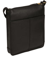 'Beth' Black Leather Cross Body Bag image 3