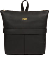 'Josie' Black Leather Backpack image 1
