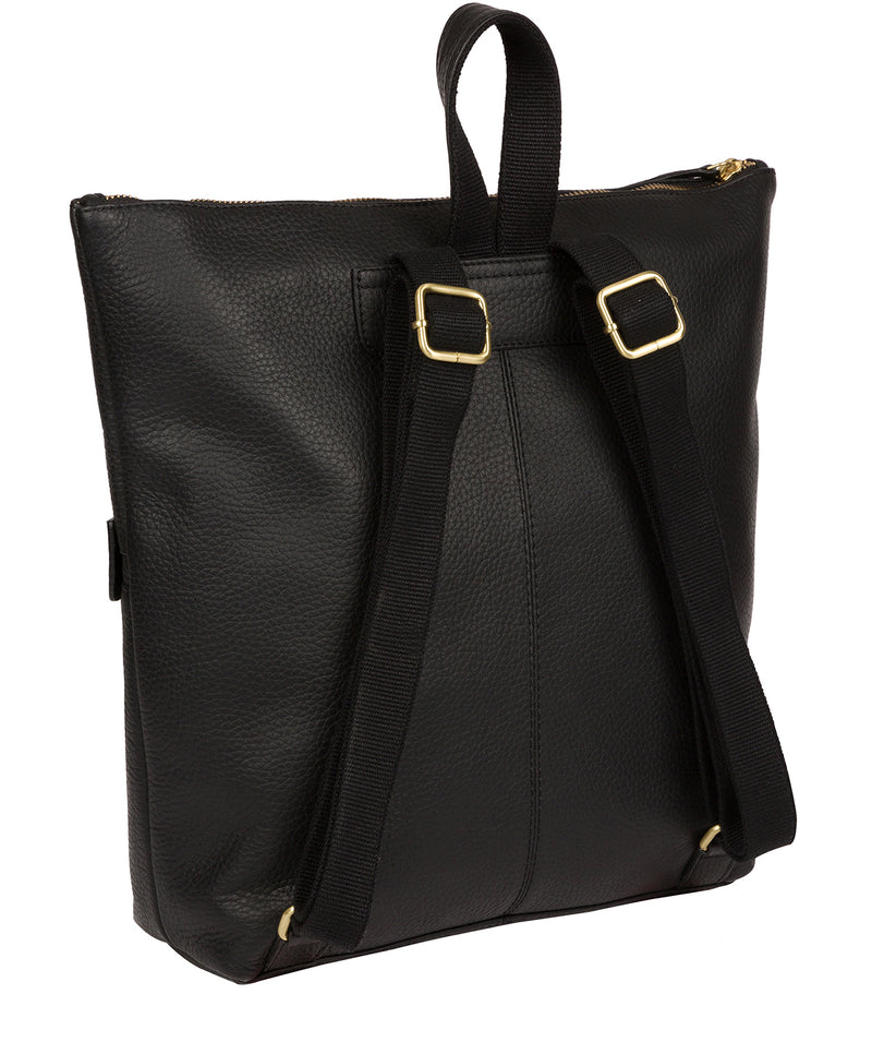 'Josie' Black Leather Backpack image 3