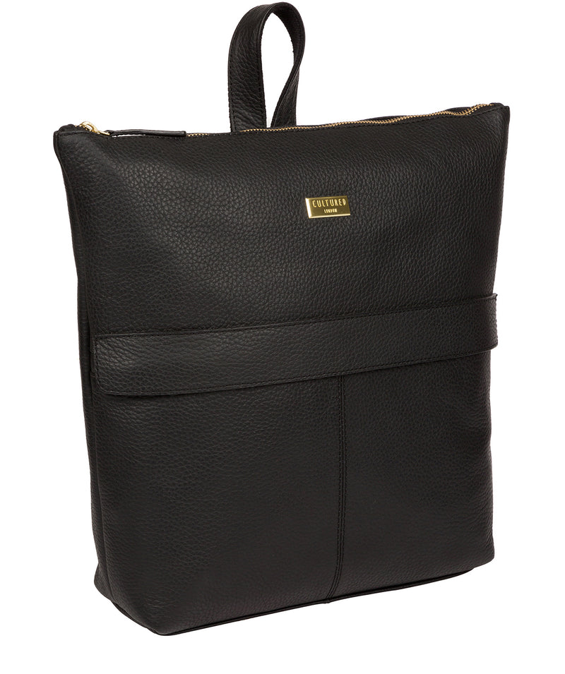 'Josie' Black Leather Backpack image 5