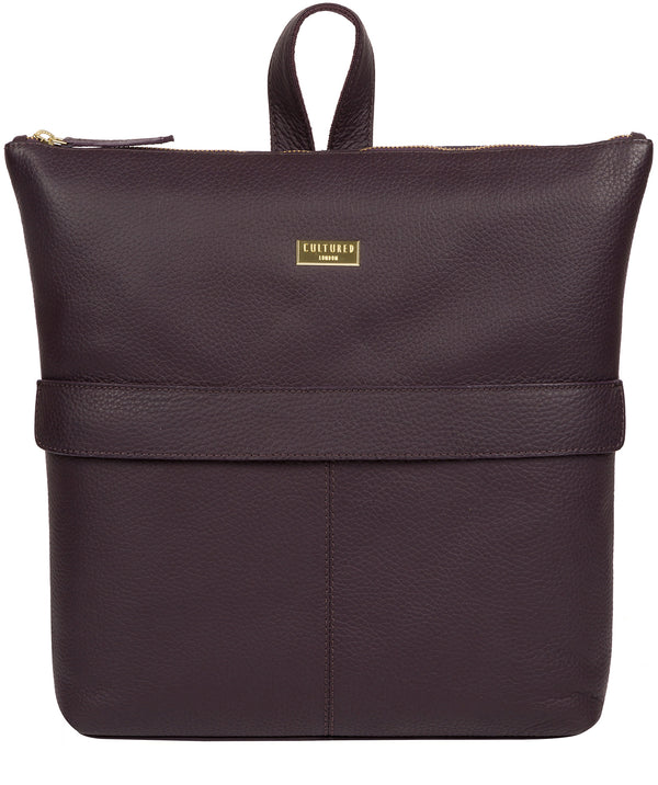 'Josie' Fig Leather Backpack image 1