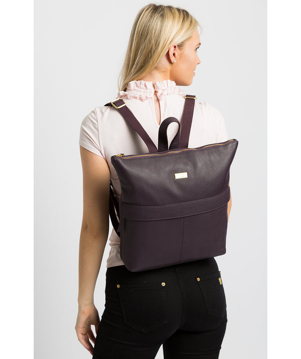 'Josie' Fig Leather Backpack image 2