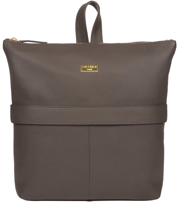 'Josie' Grey Leather Backpack image 1