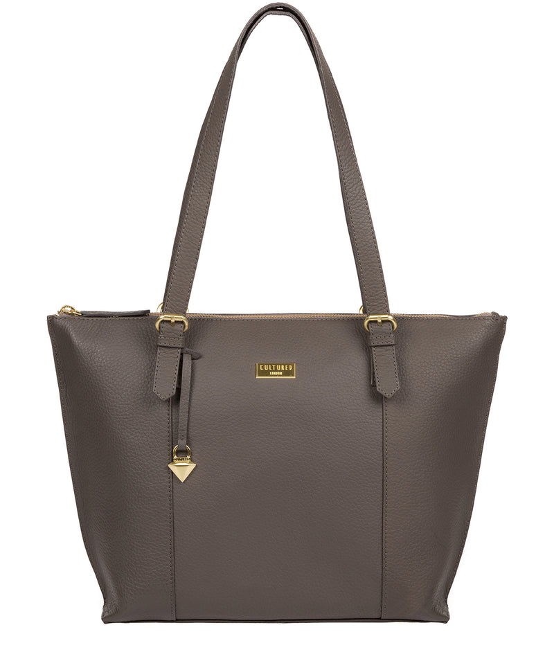 'Pippa' Grey Leather Tote Bag image 1