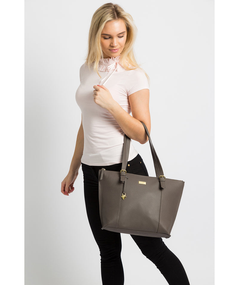 'Pippa' Grey Leather Tote Bag image 2