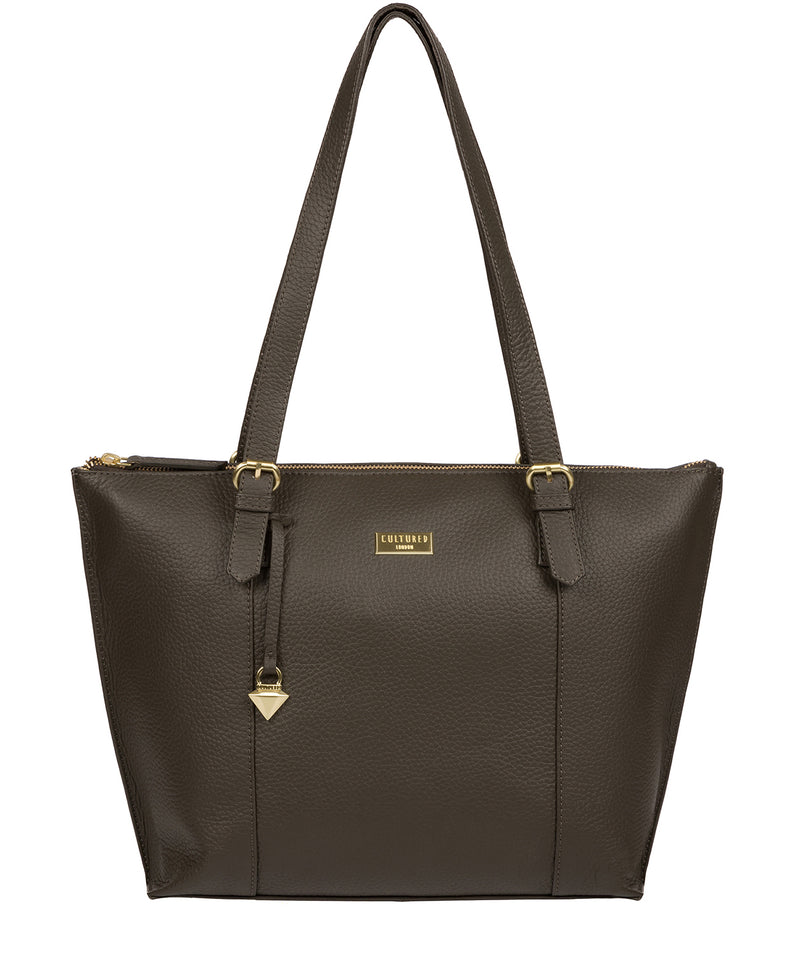 'Pippa' Olive Leather Tote Bag image 1