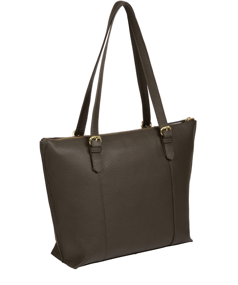 'Pippa' Olive Leather Tote Bag image 4