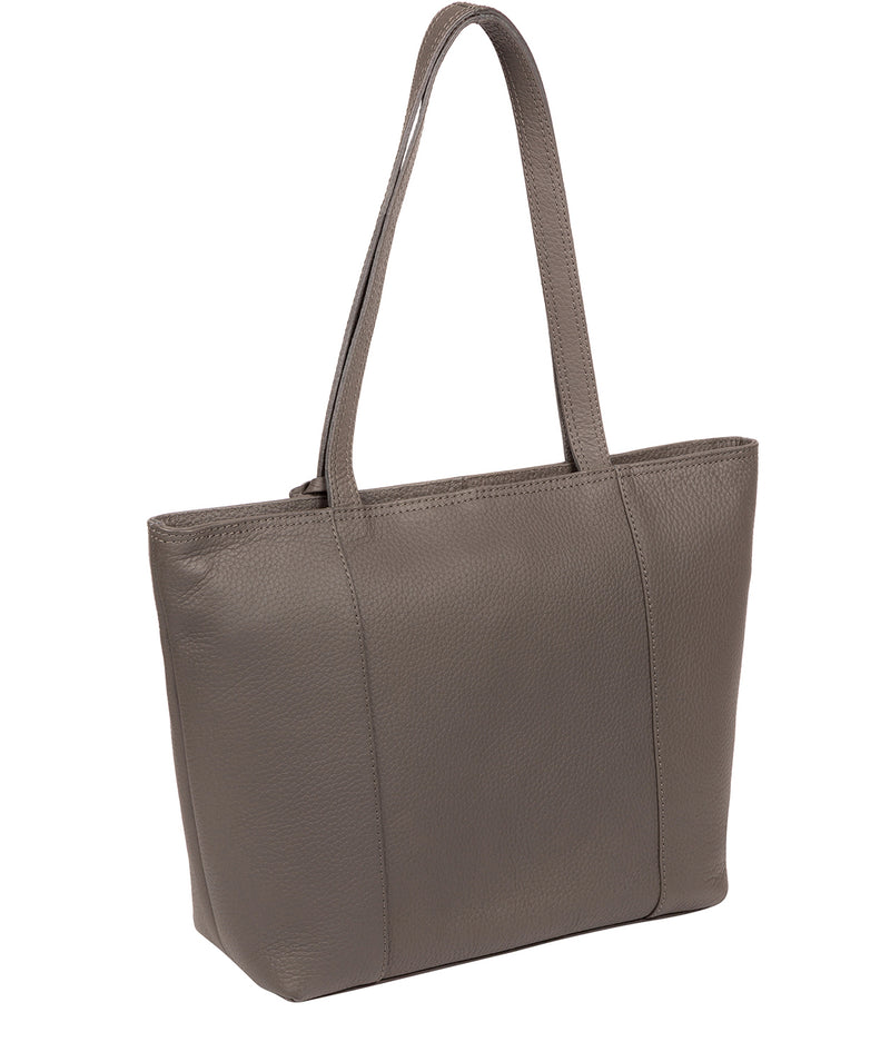 'Dawn' Grey Leather Tote Bag image 3