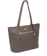 'Dawn' Grey Leather Tote Bag image 6