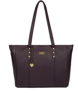 'Tabia' Fig Leather Tote Bag image 1