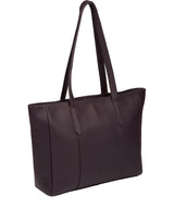 'Tabia' Fig Leather Tote Bag image 3