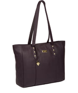 'Tabia' Fig Leather Tote Bag image 5
