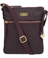 'Helga' Fig Leather Cross Body Bag image 1