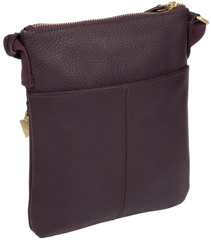 'Helga' Fig Leather Cross Body Bag image 3