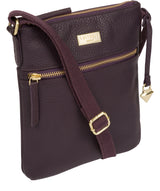 'Helga' Fig Leather Cross Body Bag image 5