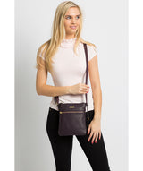 'Helga' Fig Leather Cross Body Bag image 2