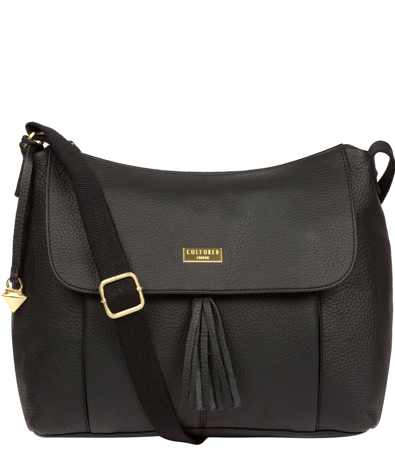 Henriette' Black Leather Shoulder Bag image 1