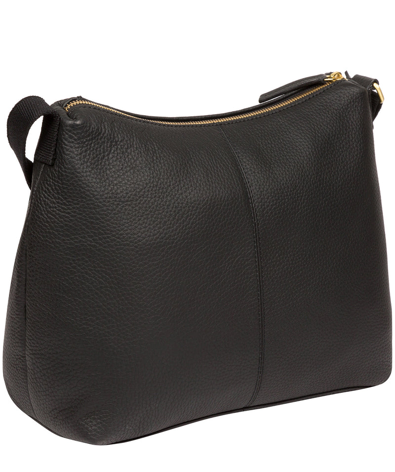 Henriette' Black Leather Shoulder Bag image 3