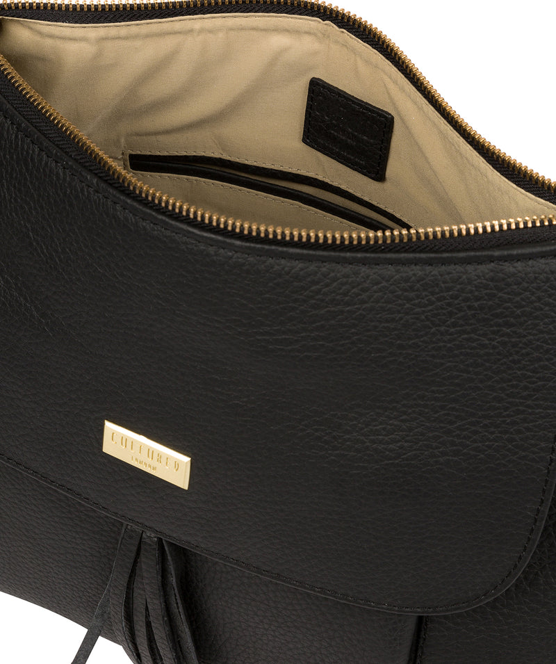 Henriette' Black Leather Shoulder Bag image 4