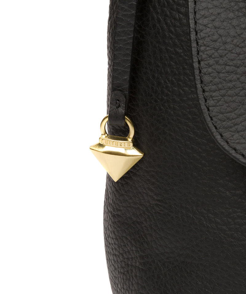 Henriette' Black Leather Shoulder Bag image 5