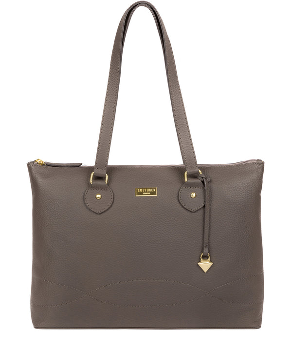 'Idelle' Grey Leather Tote Bag image 1