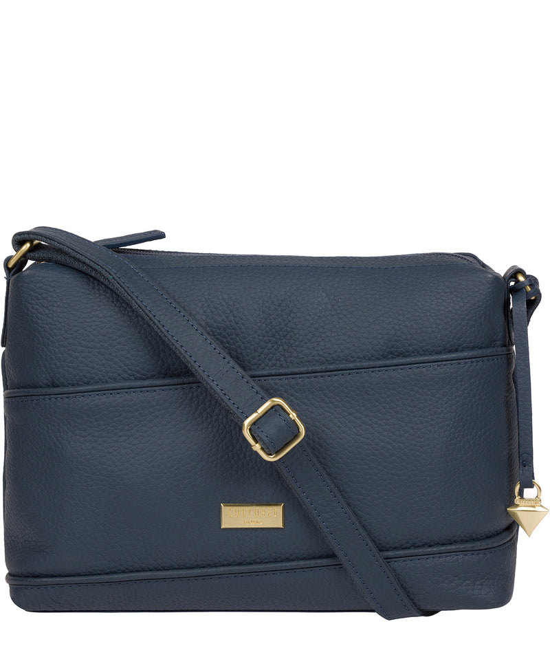 'Duana' Denim Leather Shoulder Bag image 1