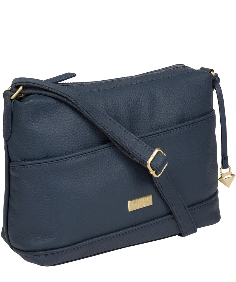 'Duana' Denim Leather Shoulder Bag image 5