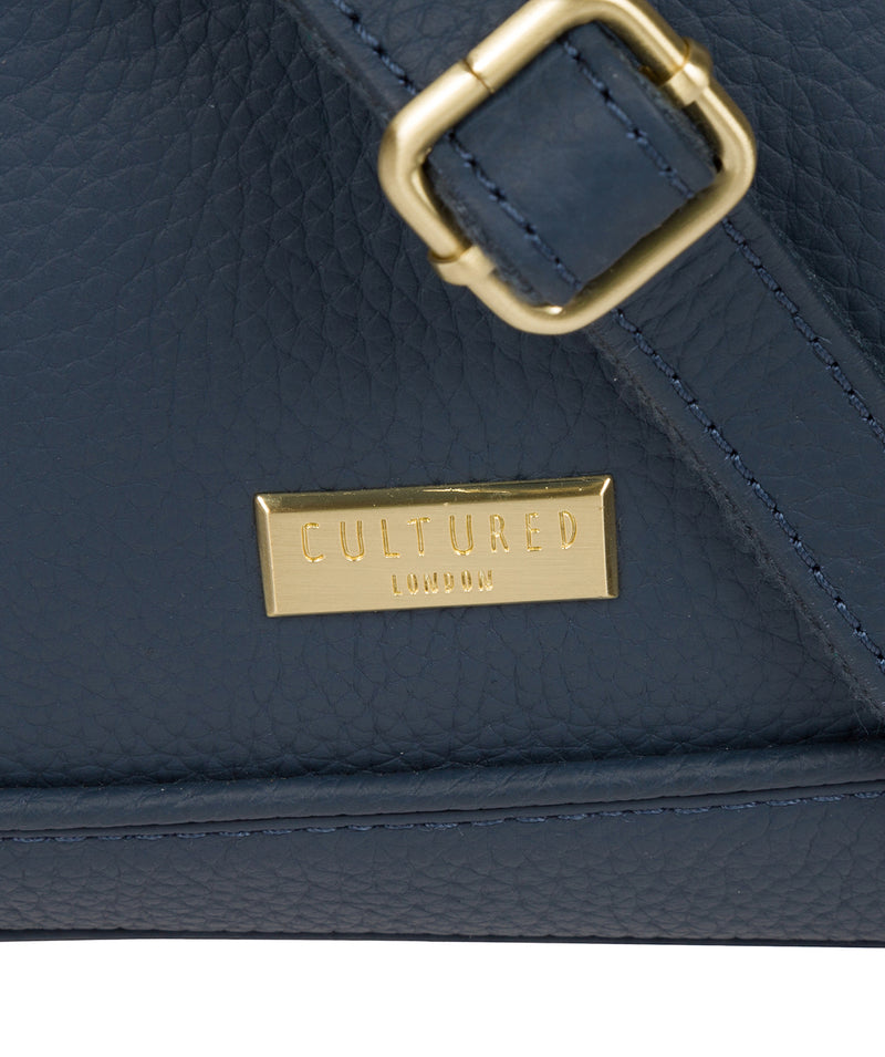 'Duana' Denim Leather Shoulder Bag image 6