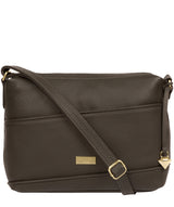 'Duana' Olive Leather Shoulder Bag image 1