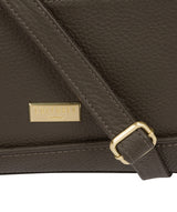 'Duana' Olive Leather Shoulder Bag image 5
