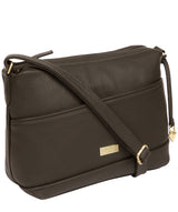 'Duana' Olive Leather Shoulder Bag image 6
