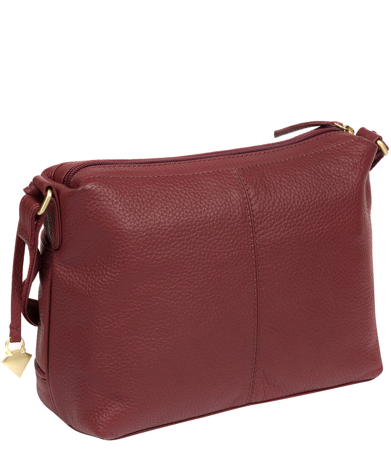 'Duana' Ruby Red Leather Shoulder Bag image 3