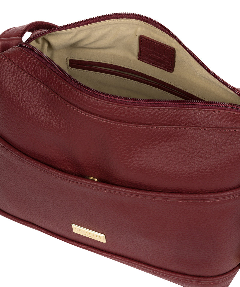 'Duana' Ruby Red Leather Shoulder Bag image 4