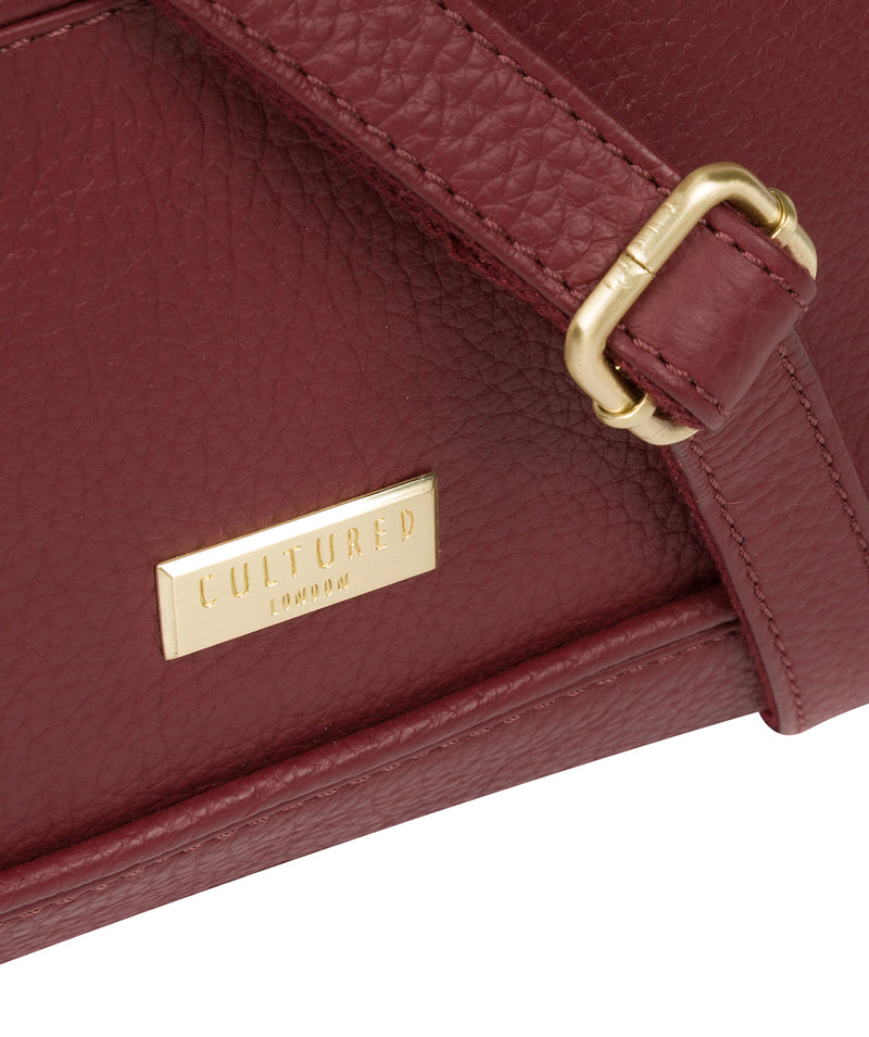 'Duana' Ruby Red Leather Shoulder Bag image 5