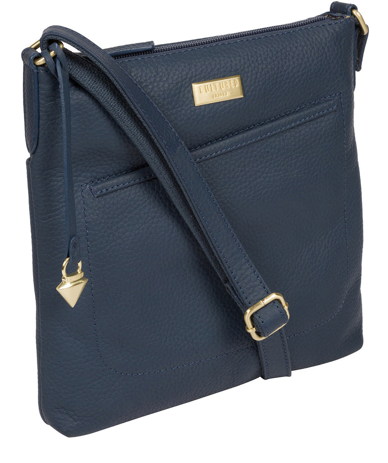 'Bronwyn' Denim Leather Cross Body Bag image 5