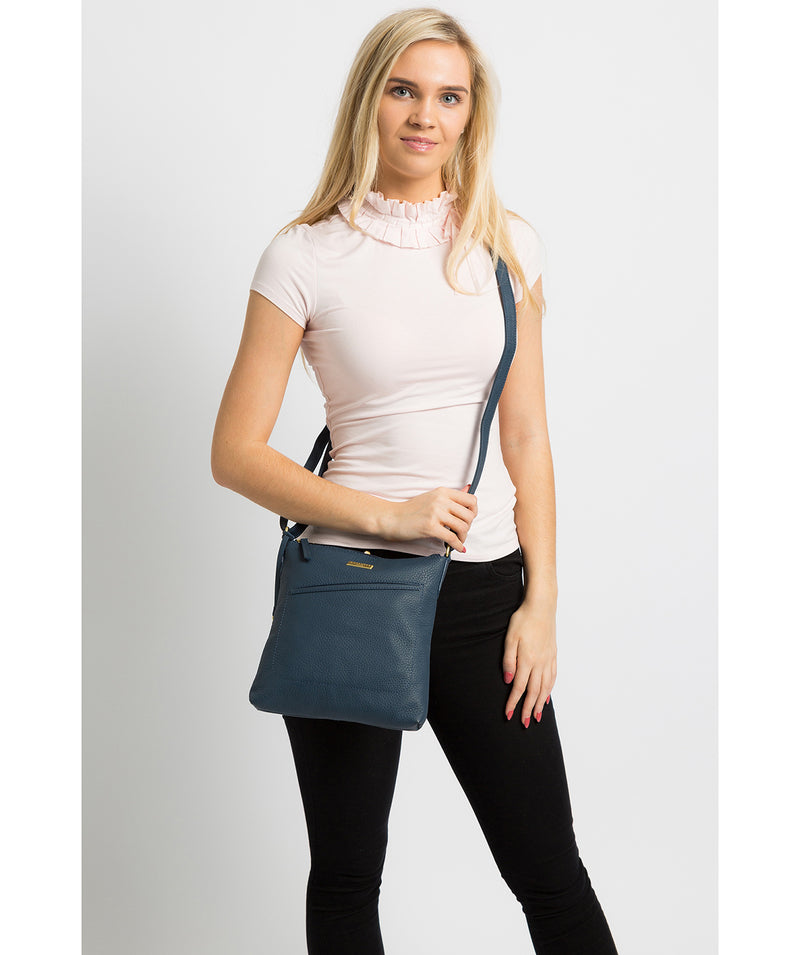 'Bronwyn' Denim Leather Cross Body Bag image 2