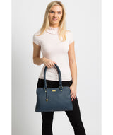 'Kiona' Denim Leather Handbag image 2