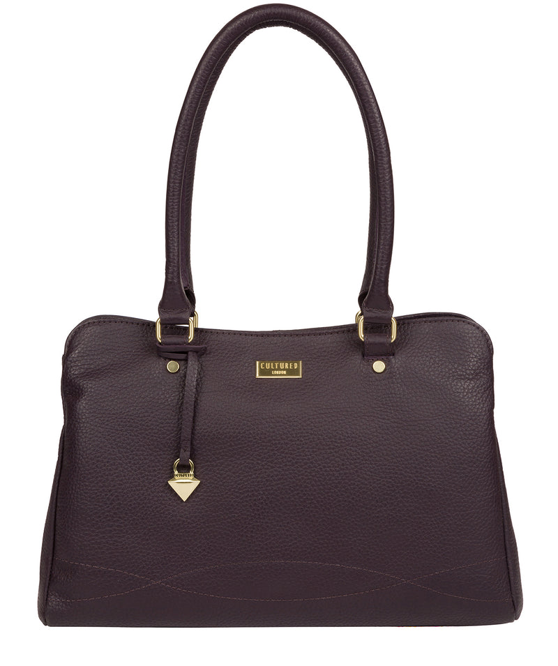 'Kiona' Fig Leather Handbag image 1