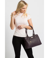 'Kiona' Fig Leather Handbag image 2