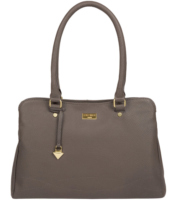 'Kiona' Grey Leather Handbag image 1