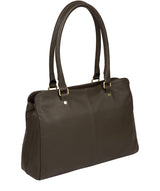 'Kiona' Olive Leather Handbag image 3