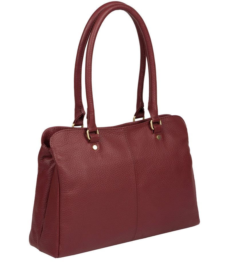 'Kiona' Ruby Red Leather Handbag Pure Luxuries London