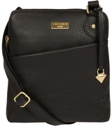 'Jarah' Black Leather Cross Body Bag image 1