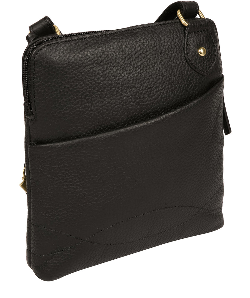 'Jarah' Black Leather Cross Body Bag image 3