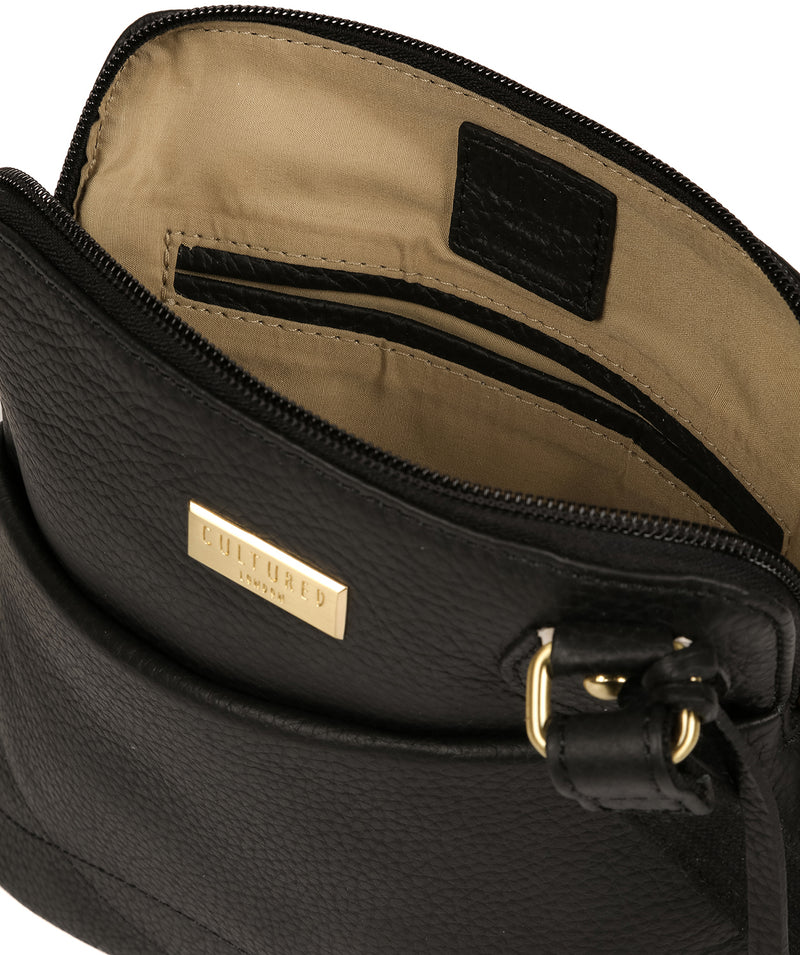 'Jarah' Black Leather Cross Body Bag image 4