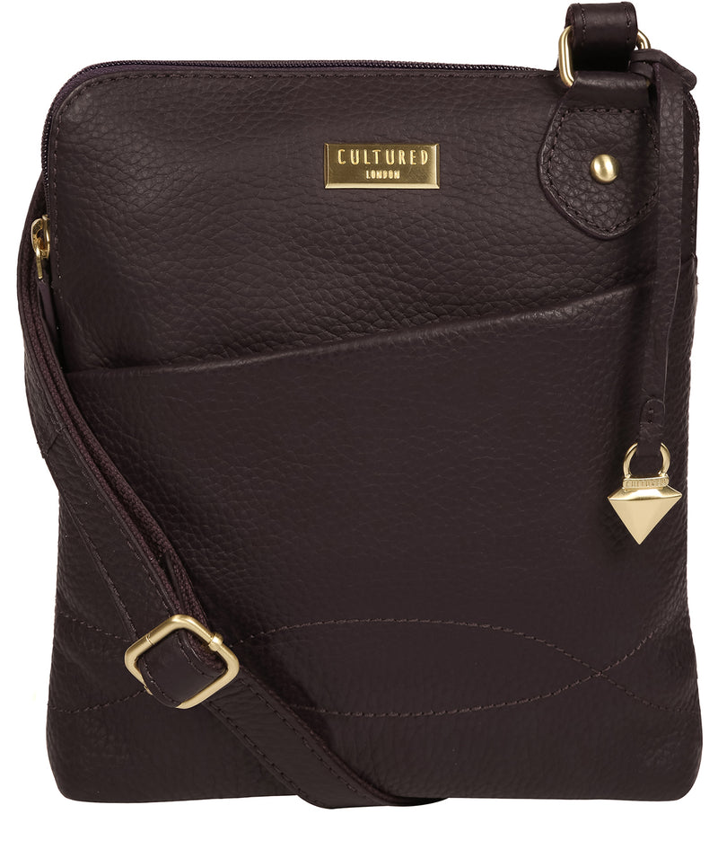 'Jarah' Fig Leather Cross Body Bag image 1