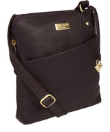 'Jarah' Fig Leather Cross Body Bag image 5