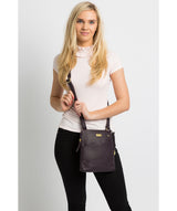'Jarah' Fig Leather Cross Body Bag image 2
