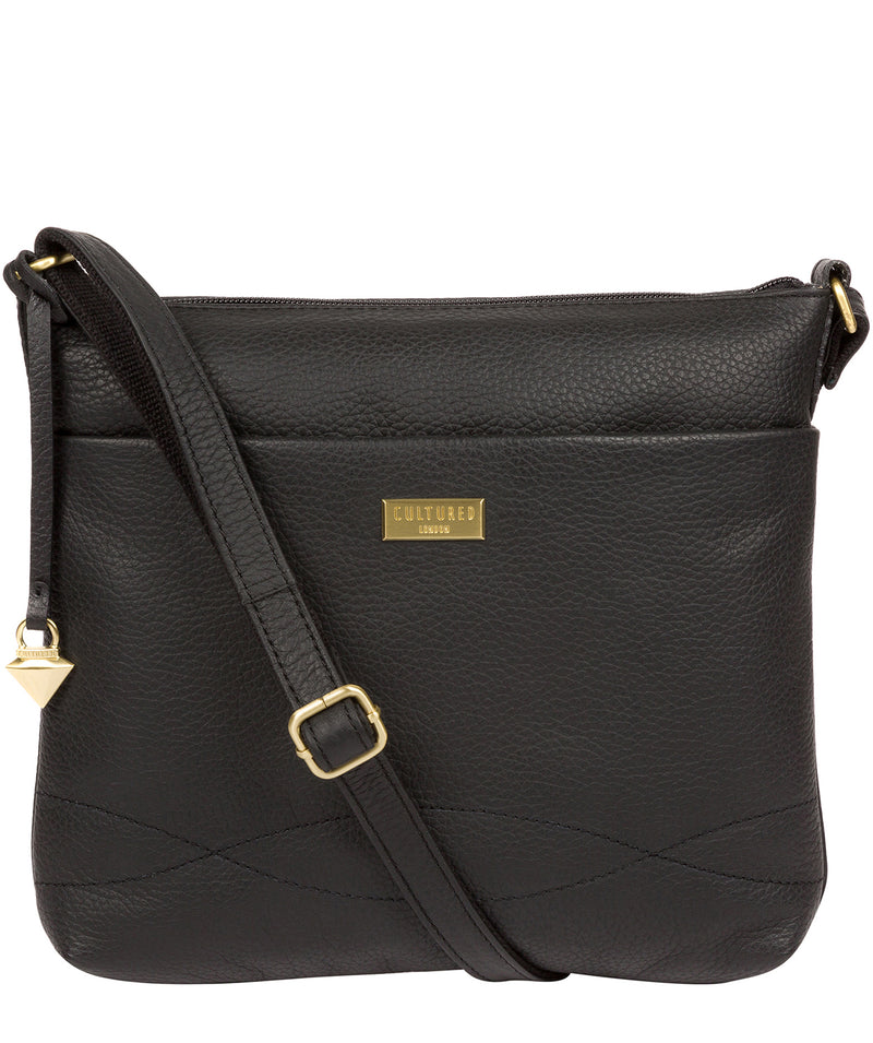 'Gianna' Black Leather Cross Body Bag image 1
