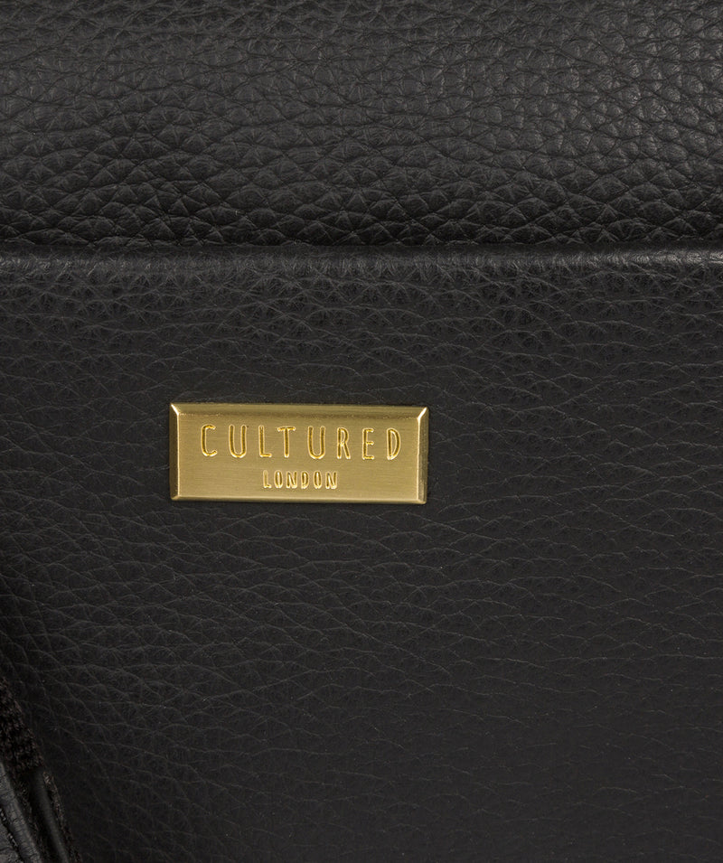 'Gianna' Black Leather Cross Body Bag image 5